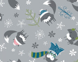 Winter Wonderland - Stone Foxes Grey by Heather Rosas from Camelot Cottons