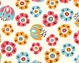 Frolic - Tulip Toss - Organic Cotton Fabric from Birch Fabrics