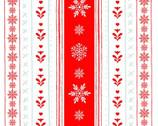 Peppermint Penguin Red Stripe Snowflake from Studio E