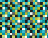 Lagoon Colorstory - Lagoon Check Out Squares from Michael Miller