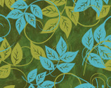 Florianna - Green Leaves from P & B Textiles
