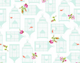 Garden Gate - White Birdcages from P & B Textiles