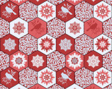 Winter Garden - Red Winter Mix from EBI Fabrics