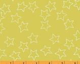 Stella - Stars Citrus Lime Yellow by Lotta Jansdotter from Windham Fabrics