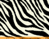 Windham Skins Flannel - Black Zebra FLANNEL from Windham Fabrics