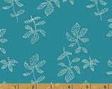 Lucky - Caribbean Teal Emes Floral Dot by Lotta Jansdotter from Windham Fabrics