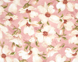 Velvet Blossoms - Pink Large Blossoms FLANNEL by Stephanie Marrott from Wilmington Prints