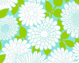 Cruzin - Aqua Floral by Barbara Jones from Henry Glass