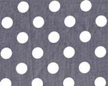 Dots - Grey Quarter Dot from Michael Miller