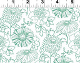 Stonewall Bloom - White Toile Floral from Clothworks