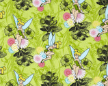 Disney Tinkerbell FLANNEL - Mystic Forest Lime from Springs Creative