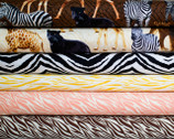 Animal Wild Print Fabric Bundle - Half Yard Bundle - 6 half yard pieces