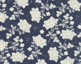 Garden Project - Dark Blue Floral by Tim and Beck from Moda