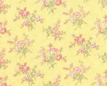 Whitewashed Cottage - Daffodil Yellow Small Floral by 3 Sisters from Moda
