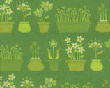 Lush - Flower Shop Grass Green by Patty Young from Michael Miller