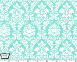 Petite Dandy Damask - Aqua from Michael Miller