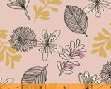 Whisper - Leaves and Flowers Pink by Victoria Johnson from Windham Fabrics