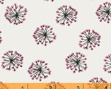 Whisper - Puffs Pink by Victoria Johnson from Windham Fabrics