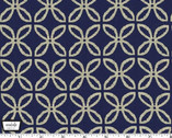 Glitz Clover - Twinkle Navy Midnight Blue from Michael Miller
