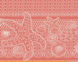 Tidal Lace - Lace Seashells Coral by Kim Andersson from Windham Fabrics
