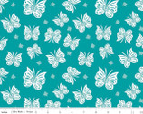 Designer Double Gauze - Flutter Teal by Patty Young from Riley Blake