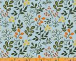 Gardening - Berries and Flowers Blue by Dinara Mirtalipova from Windham Fabrics