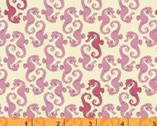 Mendocino - Sea Horses Pink by Heather Ross from Windham Fabrics
