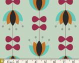 Nordika - Tulip Vines Mint by Jeni Baker from Art Gallery Fabrics