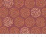 A Marsala Moment - Flower Burst Metallic Copper from Camelot Cottons