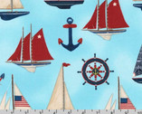 Down by the Sea - Nautical Sail Boats by Mary Lake-Thompson from Robert Kaufman