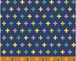 Meet the Royal Court - Crosses Navy by Jill McDonald from Windham Fabrics