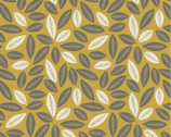 Botanical - Mustard Leaves by Alisse Courter from Camelot Cottons