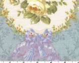 Rococo Sweet - Floral Wreath Ash Blue from Lecien