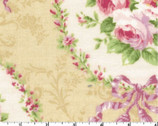 Rococo Sweet - Floral Wreath Beige from Lecien