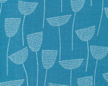 Threads DOUBLE GAUZE- Stitch Stem Teal by Eloise Renouf from Cloud 9 Fabrics