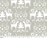 Treelicious - Rudolph Grey from Blend Fabrics