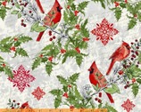 Seasons Greetings - Cardinals by Whistler Studios from Windham Fabrics