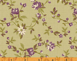 Peyton - Small Floral Green by Nancy Gere from Windham Fabrics
