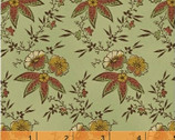 Ophelia CA. 1895 - Medium Floral Green by Nancy Gere from Windham Fabrics