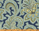 Ariana - Large Paisley Navy by Williamsburg from Windham Fabrics