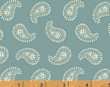 Ariana - Large Mono Paisley Aqua by Williamsburg from Windham Fabrics