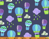 Color and Count - Blue Navy Hot Air Balloons from Windham Fabrics