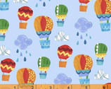 Color and Count - Light Blue Hot Air Balloons from Windham Fabrics