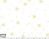 Magic! - Lucky Stars White with Metallic by Sarah Jane from Michael Miller
