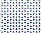 Geo Set Navy Triangles from 3 Wishes Fabric