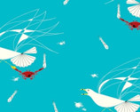 Maritime - Seagull and Crab by Charley Harper from Birch Organic Fabric
