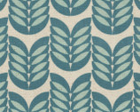 Leaf - Aqua Teal Leaf CANVAS Fabric from Kokka