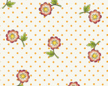 Sundress - Flowers Orange by Meg Hawkey from Red Rooster Fabrics