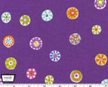Melodies - Folk Floral Dot Plum Purple by Sarah Campbell from Michael Miller