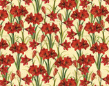 Holiday Magic - Ivory Amaryllis All Over by Lisa Audit from Wilmington Prints